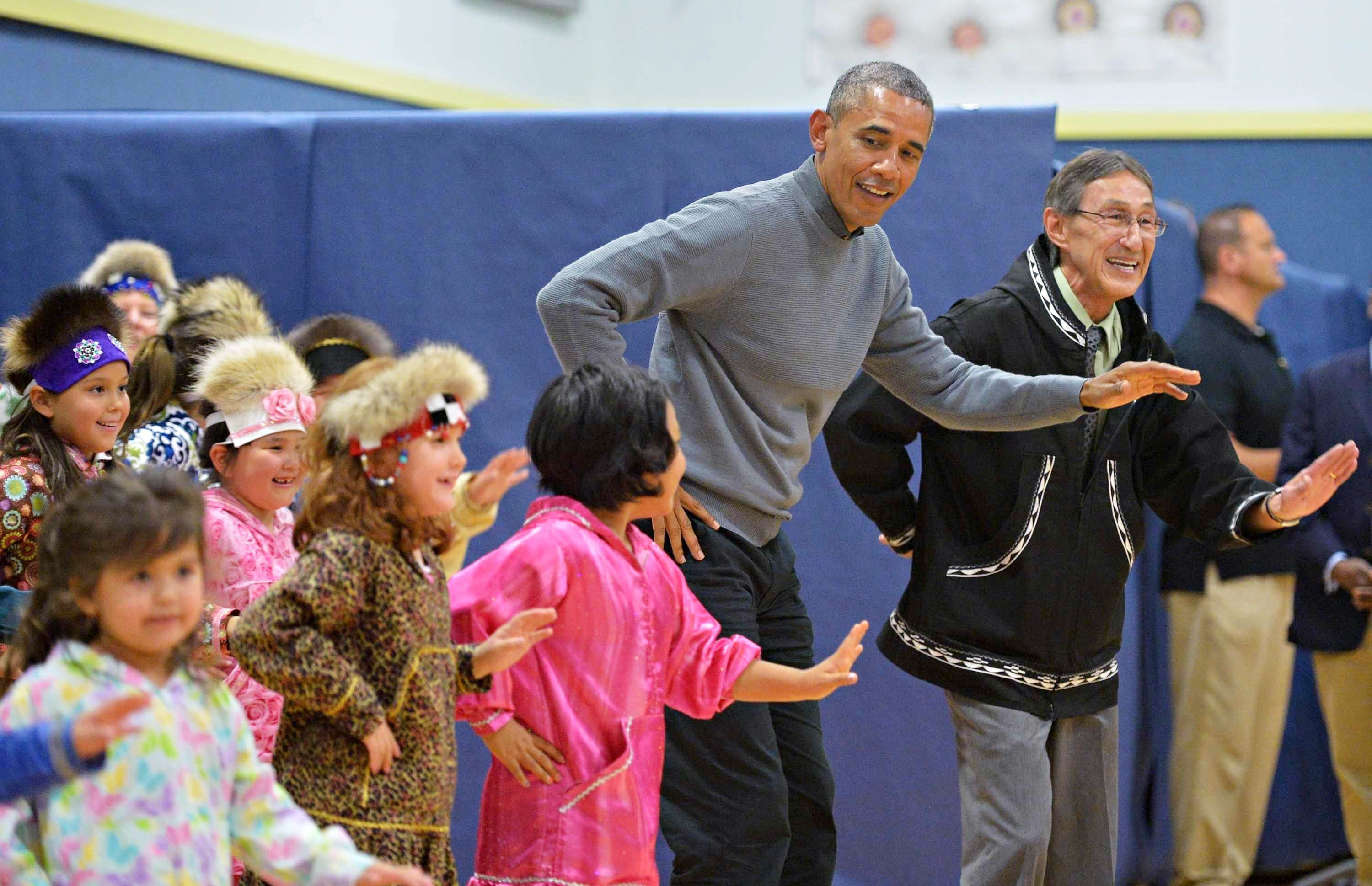 <p>Obama joined children in a dance on Wednesday.</p>