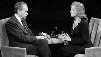 Richard Nixon and Barbara Walters