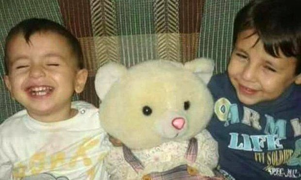 <p>Aylan Kurdi and his older brother Galip.</p>