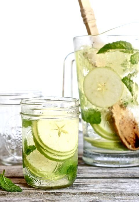 """<strong>Get the <a href=""""http://www.theclevercarrot.com/2012/07/white-sangria-with-apple-and-mint/"""" target=""""_blank"""">White San"""