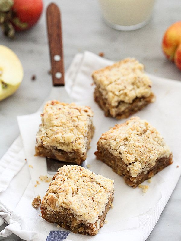 "<strong>Get the <a href=""http://www.foodiecrush.com/apple-blondies-with-cinnamon-almond-streusel/"" target=""_blank"">Apple Blon"