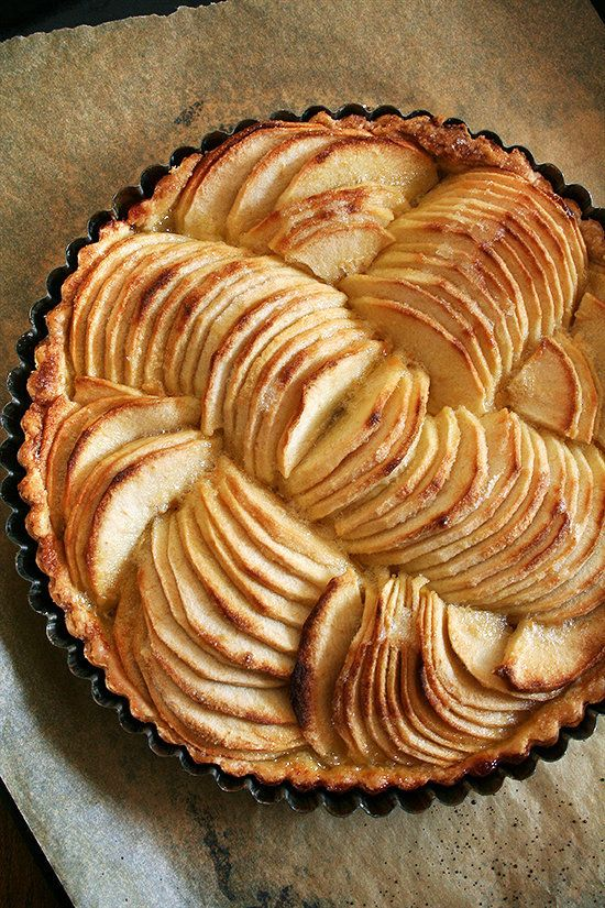 "<strong>Get the <a href=""http://www.alexandracooks.com/2012/09/19/french-apple-tart-cinnamon-snails/"" target=""_blank"">French"