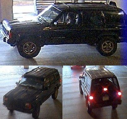 """Photos released by police of the """"vehicle of interest."""""""