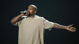 LOS ANGELES, CA - AUGUST 30:  Kanye West speaks onstage during the 2015 MTV Video Music Awards held at Microsoft Theater on August 30, 2015 in Los Angeles, California.  (Photo by Michael Tran/FilmMagic)