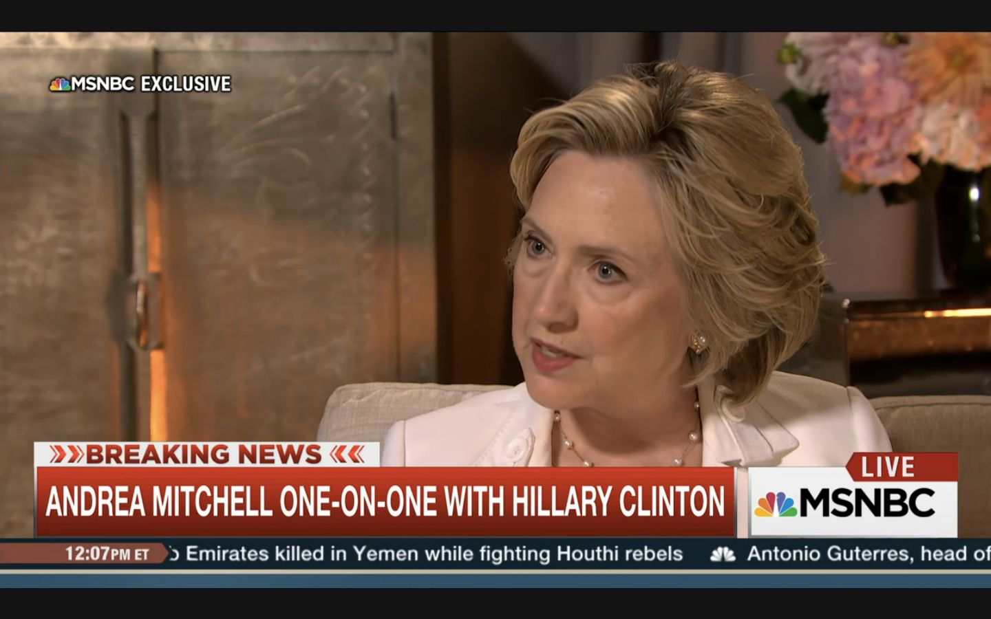 Hillary Clinton addressed claims about her private e-mail use in a Friday interview with Andrea Mitchell on MSNBC.