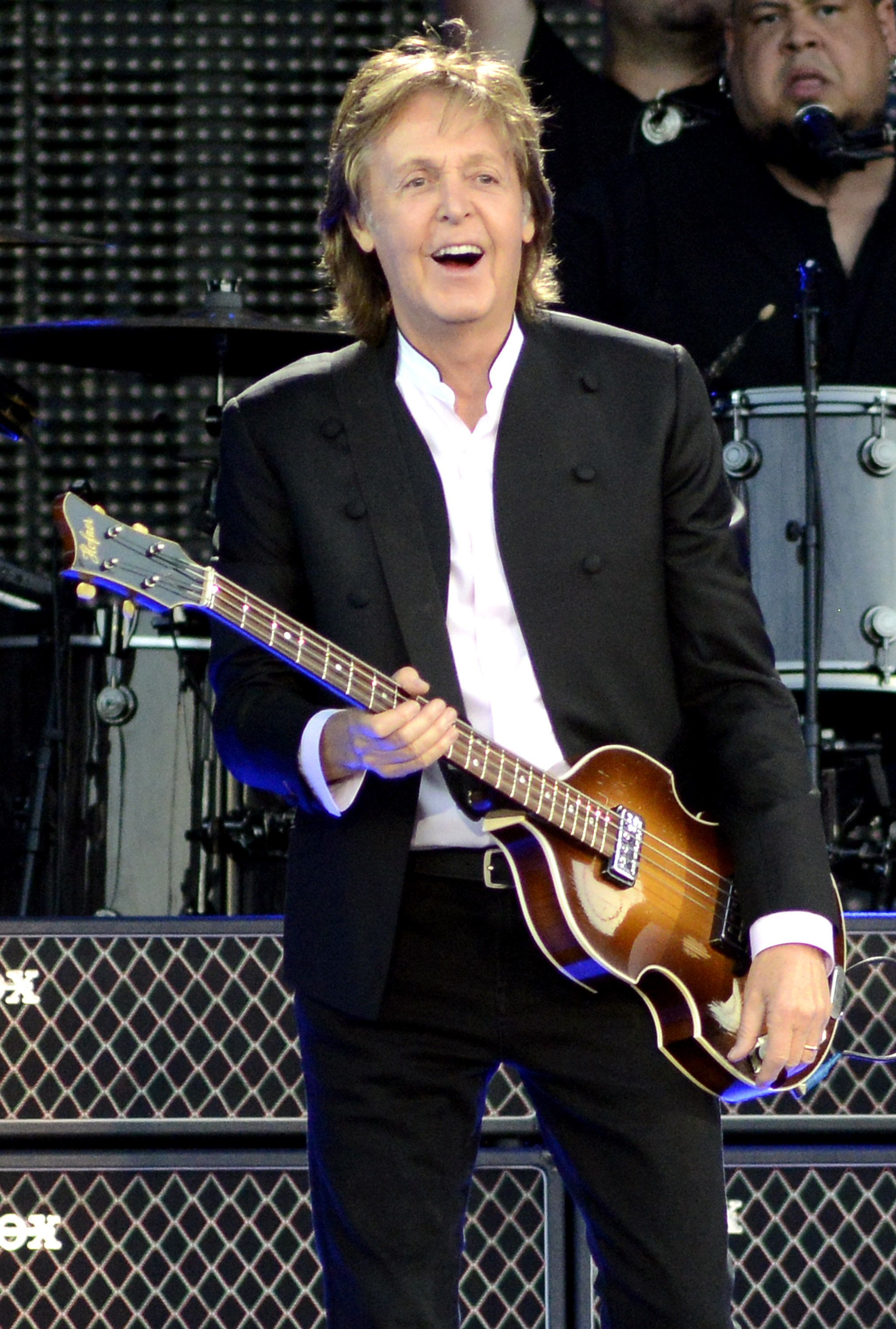 <p>Paul McCartney, who was featured in the song. </p>