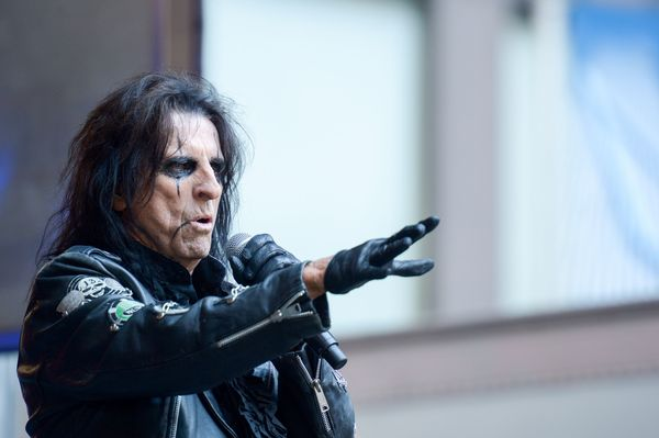 """Alice Cooper has been a devout Christian sincehe gave up drinking, according toan <a href=""""http://www.christianto"""