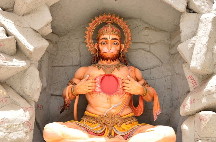 A bid to place a tribute to the Hindu god Hanuman, pictured above, on Arkansas state capitol grounds was rejected in Aug