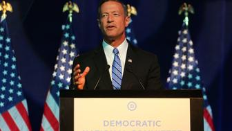 MINNEAPOLIS, MN - AUGUST 28:  Democratic Presidential candidate former Maryland Gov. Martin O'Malley speaks at the Democratic National Committee summer meeting on August 28, 2015 in Minneapolis, Minnesota.  Most of the Democratic Presidential candidates including O'Malley , Hillary Clinton, Martin O'Malley and Bernie Sanders are attending at the event.  (Photo by Adam Bettcher/Getty Images)