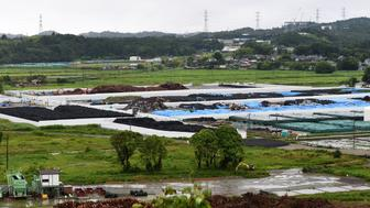 <p>The collection site for contaminated earth in Naraha, a tiny town in Fukushima prefecture, on July 16, 2015.</p>