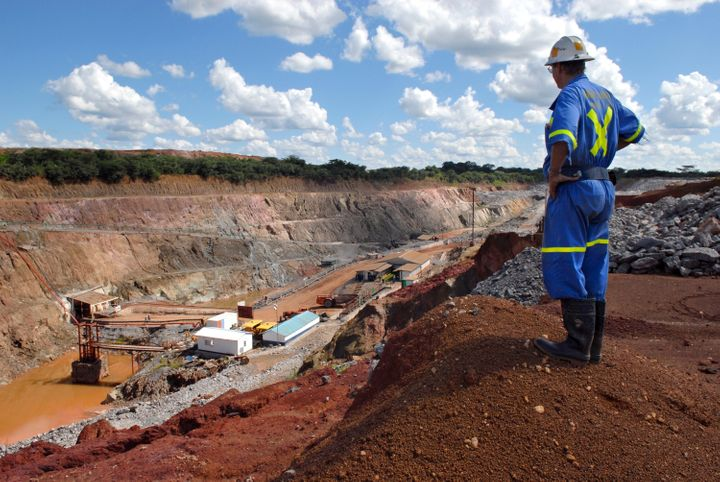 A mine supervisor overlooks Metorox's Chibuluma copper mine, near Kitwe, Zambia, on Feb. 7, 2008.