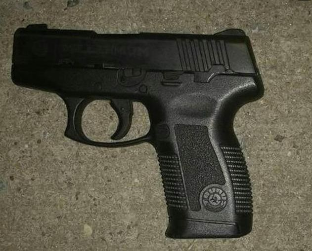 Police recovered a .40-caliber Taurus Millennium pistol.
