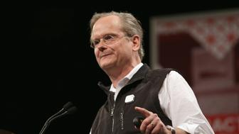 AUSTIN, TX - MARCH 14:  Lawrence Lessig, director of the Edmond J. Safra Center for Ethics at Harvard University, speaks onstage at 'MAYDAY: The Fight To Save American Democracy' during the 2015 SXSW Music, Film + Interactive Festival at Hilton Austin on March 14, 2015 in Austin, Texas.  (Photo by Sandra Dahdah/Getty Images for SXSW)
