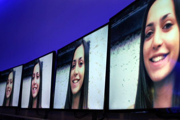 """<span class='image-component__caption' itemprop=""""caption"""">A picture ofMeredith Kercher is displayed in Rome on March 31, 2015.</span>"""