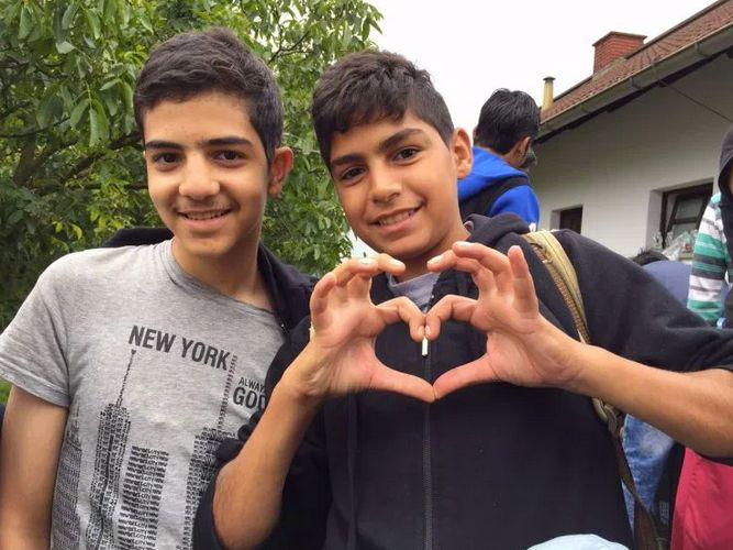 Omar's cousins Abdul Rahman (L), 15, wants to be a doctor in Germany. His younger cousin Abduljalil is just happy that he's