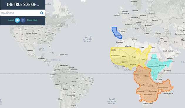 True Size Map\' Proves You\'ve Been Picturing The Planet All Wrong ...