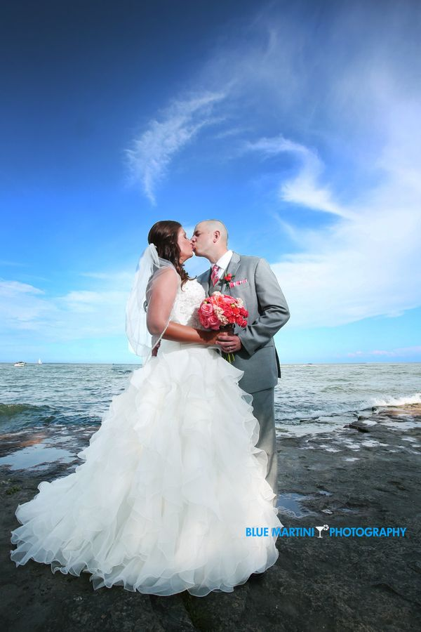 """""""Kelly and Troy's Marblehead, Ohio wedding on the beautiful Lake Erie shore and lighthouse."""" - Christin Berry"""