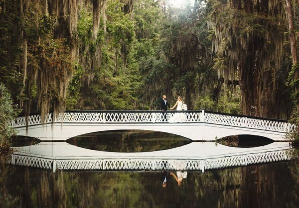 """Autum and Scott's Charleston wedding at Magnolia Plantation."" - Kathleen Atkins"