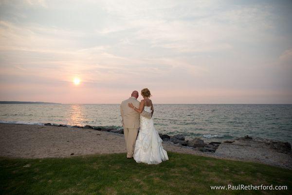 """""""Renae and Jason's wedding at the Inn at Bay Harbor on Lake Michigan."""" - Paul Retherford"""