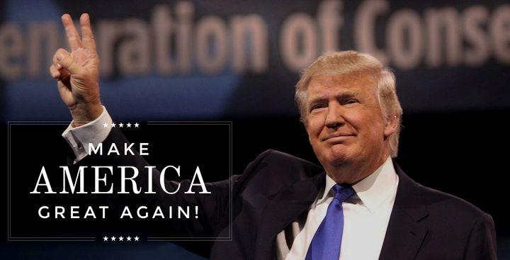 The homepage ofdonaldjtrump.com.