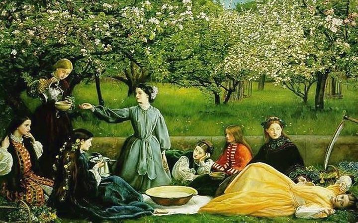 "<a href=""https://commons.wikimedia.org/wiki/File:Apple_Blossoms_by_John_Everett_Millais.jpg"">John Everett Millais, ""Apple Blo"