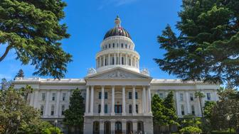 California State Capitol Building and grounds in Sacramento, CA, USA