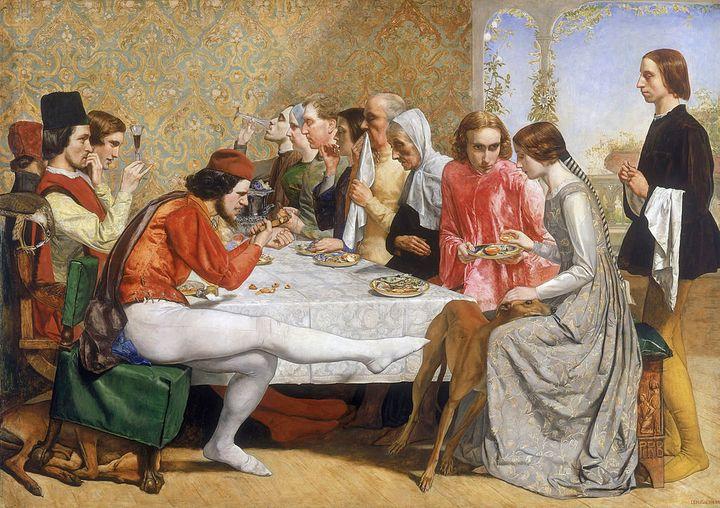 "<a href=""https://commons.wikimedia.org/wiki/File:John_Everett_Millais_-_Isabella.jpg"">John Everett Millais, ""Isabella,"" 1849<"