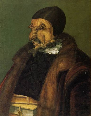 "<a href=""https://en.wikipedia.org/wiki/File:Jurist-arcimboldo.png"">Giuseppe Arcimboldo, ""The Jurist,"" 1566</a>"