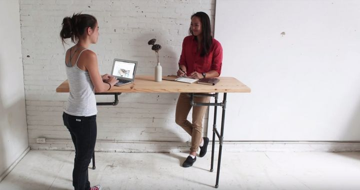 How To Make Your Own Standing Desk Huffpost Life