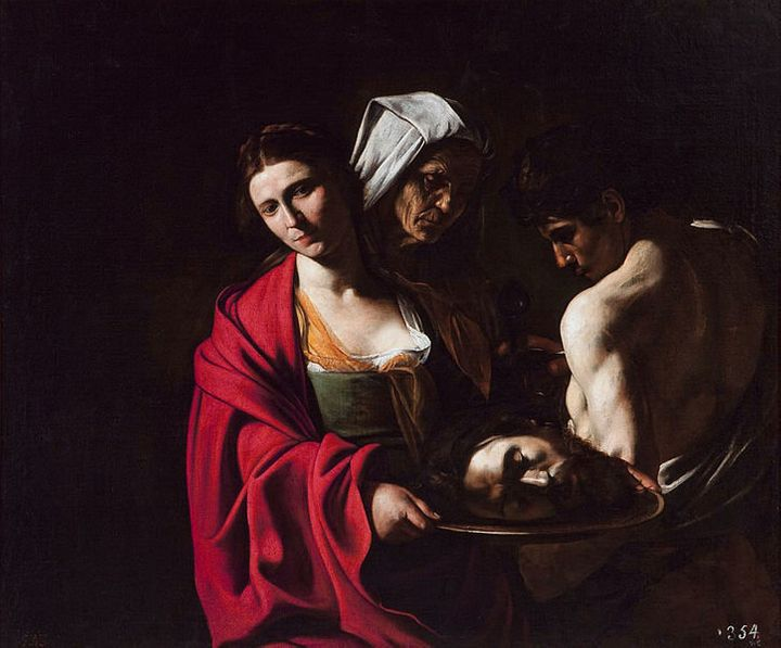 "<a href=""https://commons.wikimedia.org/wiki/File:CaravaggioSalomeMadrid.jpg"">Caravaggio, ""Salome with the Head of John the Ba"