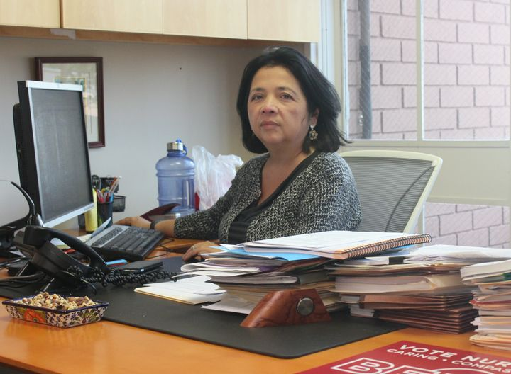 <p>Bonnie Castillo, director of the Registered Nurse Response Network at National Nurses United.&nbsp;</p>