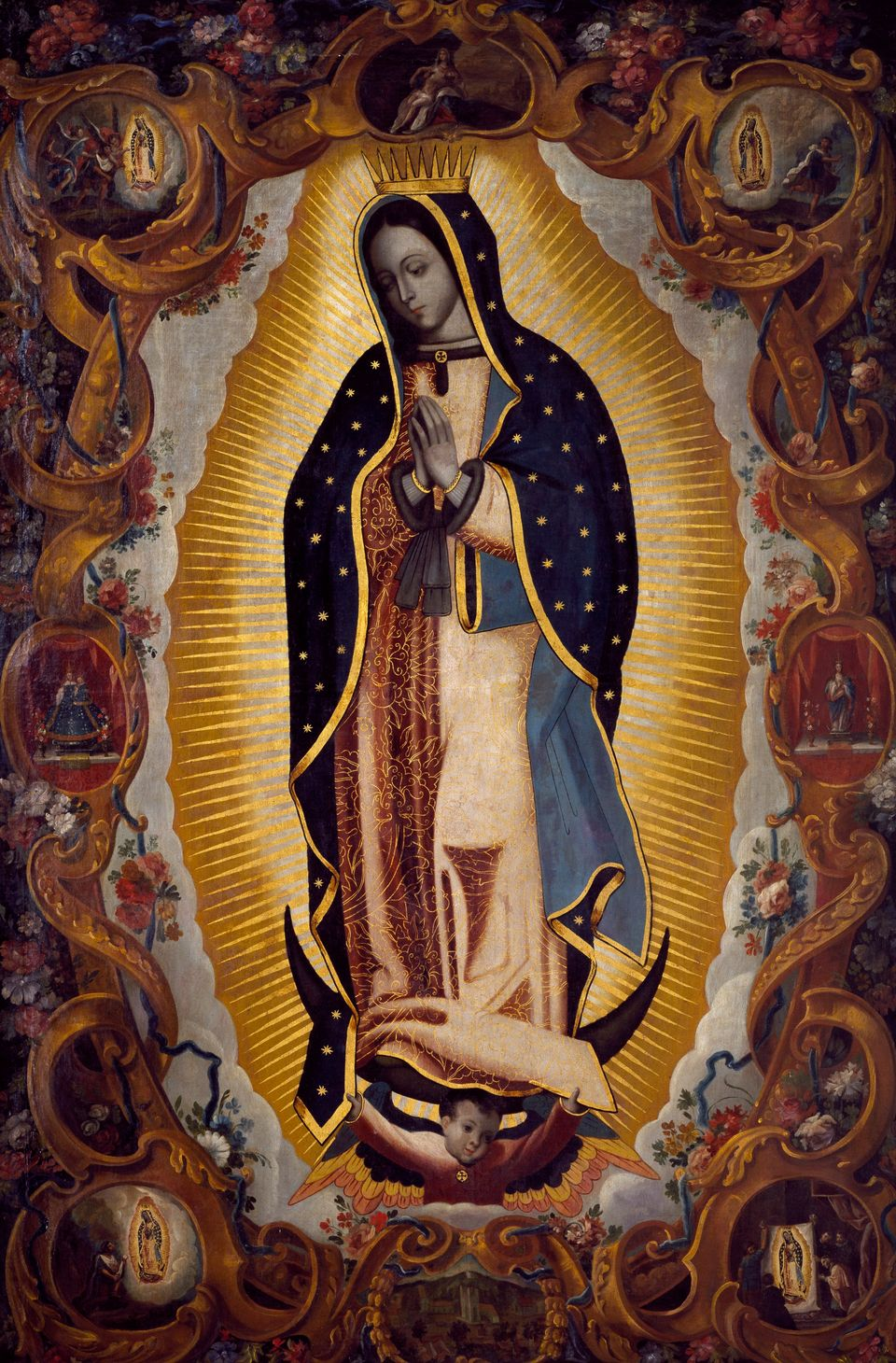 "Mary is <a href=""http://www.britannica.com/topic/Our-Lady-of-Guadalupe-patron-saint-of-Mexico"">believed</a>&nbsp;to have appe"