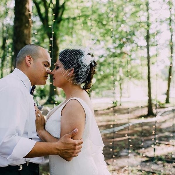 """Esmie and Armando's intimate wedding at @themackeyhouse."" - Jiyeon Allen"