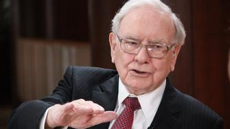 SQUAWK BOX -- Pictured: Warren Buffett, chairman and CEO of Berkshire Hathaway in an interview  on May 4, 2015 -- (Photo by: Lacy O'Toole/CNBC/NBCU Photo Bank via Getty Images)