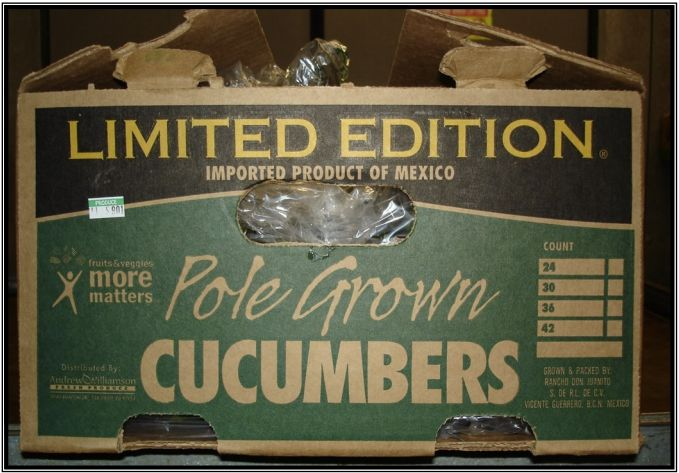 """<p><span style=""""font-family: Arial, Helvetica, sans-serif; font-size: 14px; line-height: 20px; background-color: #eeeeee;"""">A photo that shows the boxes A&amp;W cucumbers are shipped in.&nbsp;</span></p>"""