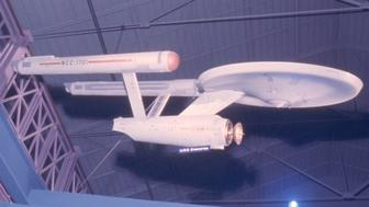 Starship Enterprise production model on display in 1975.