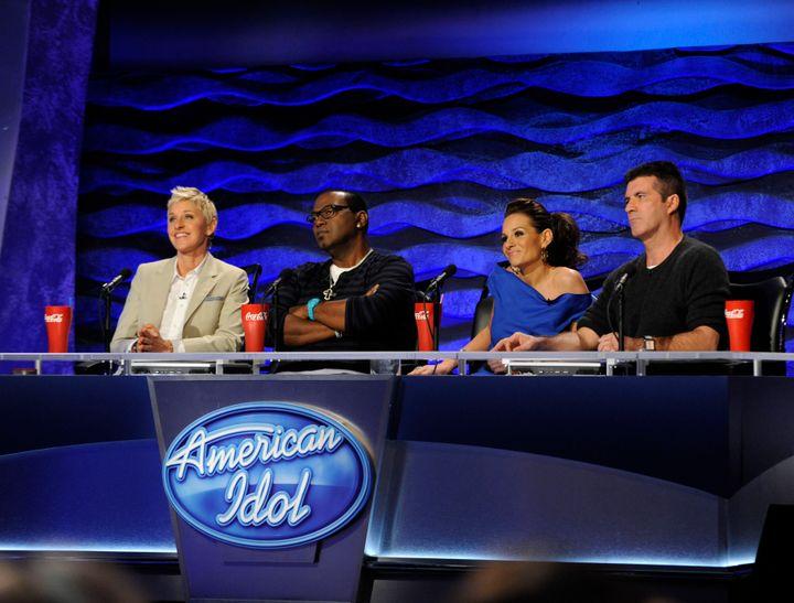 <span><span>Ellen DeGeneres, Randy Jackson, Kara DioGuardi and Simon Cowell.</span></span>