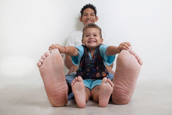 Jeison Orlando Rodriguez Hernandez of Venezuela has the largest feet on a living person. His right foot is 1 foot, 3.79 inche