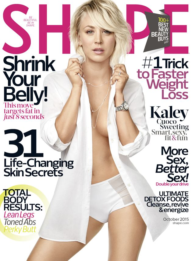 Kaley Cuoco magazine cover