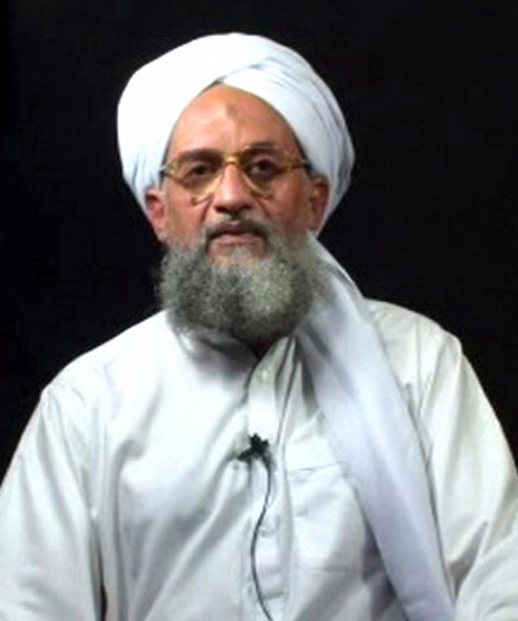 TO GO WITH AFP STORY BY MICHEL MOUTOT : (FILES) - This grab taken from a video entitled 'An invitation to Islam' produced by Al-Qaeda-linked media group as-Sahab and released on the Internet 02 September 2006 shows the number two in al-Qaeda, Ayman al-Zawahiri, at an undisclosed date and place. Internet users aimed questions at Al-Qaeda's Ayman Al-Zawahiri for a period of one month via jihadi chat groups after the terrorist network's second in command promised to respond to them. For the first time, Osama Bin Laden -- the man at the pinnacle of the terrorist network -- invited both 'individuals and the media' to post their questions to Zawahiri until 16 January 2008 on three websites regularly used by Al-Qaeda.  AFP PHOTO (Photo credit should read -/AFP/Getty Images)