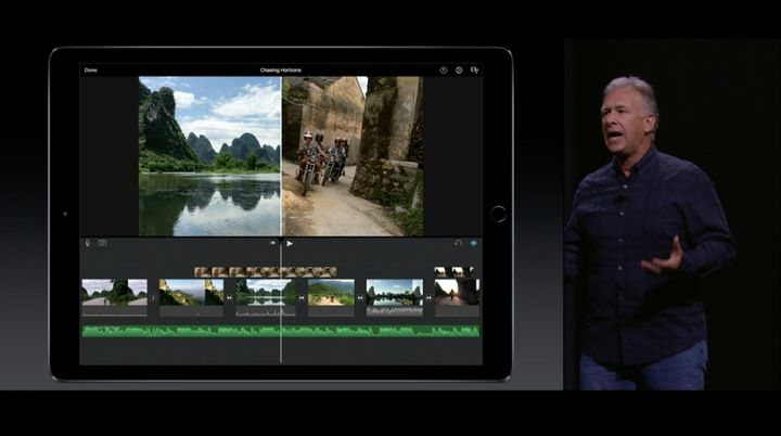 Phil Schiller, Apple's senior vice president of worldwide marketing, describes the company's newest iPad on Wednesday.