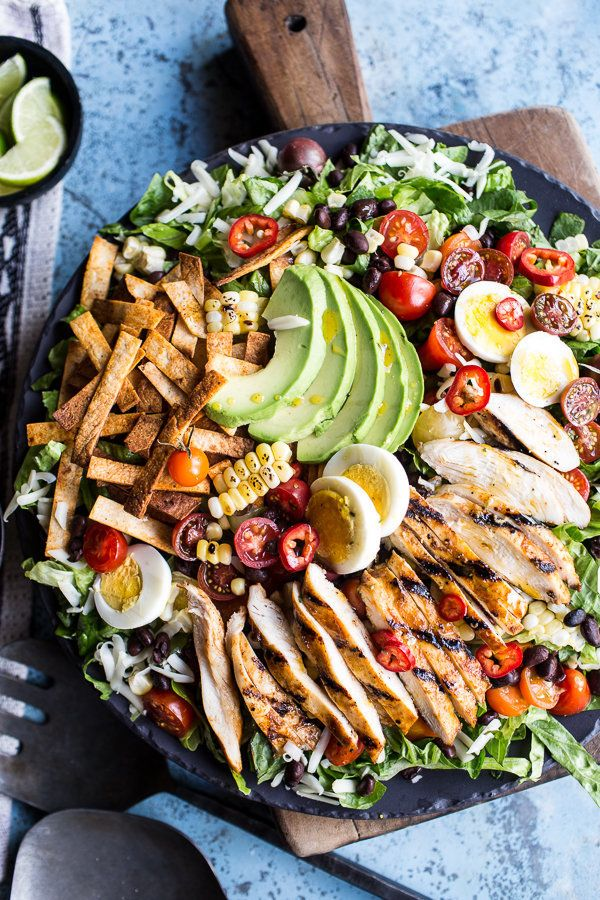 """<strong>Get the <a href=""""http://www.halfbakedharvest.com/mexican-grilled-chicken-cobb-salad/"""">Mexican Grilled Chicken Cobb Sa"""