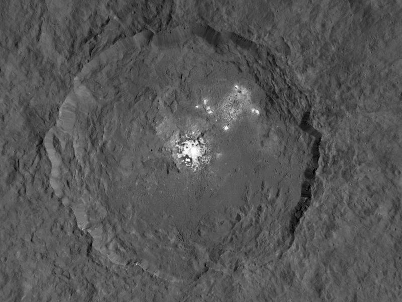 NASA released new high-resolution images of the bright spots on Ceres.