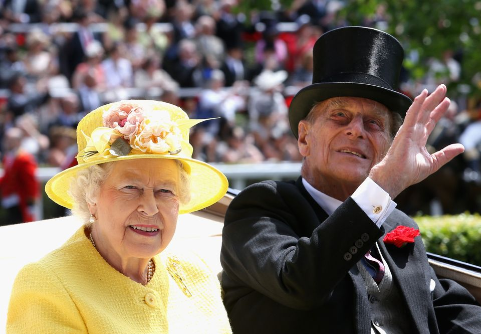 Queen Elizabeth, with Prince Philip, attends the Royal Ascot horse races at Ascot Racecourse in Berkshire, England, on June 1