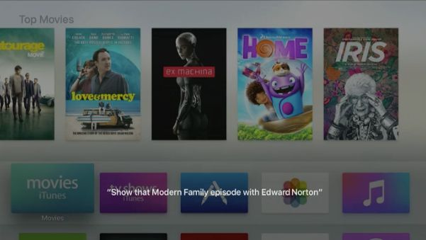 The new Apple TV has Siri compatibility with upgraded search capabilities.