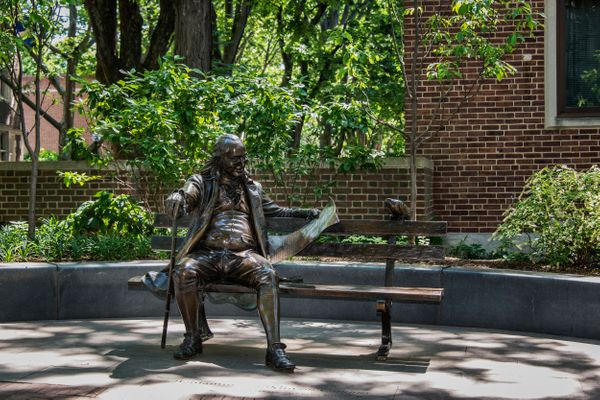 Ben Franklin statue on the University of Pennsylvania campus.