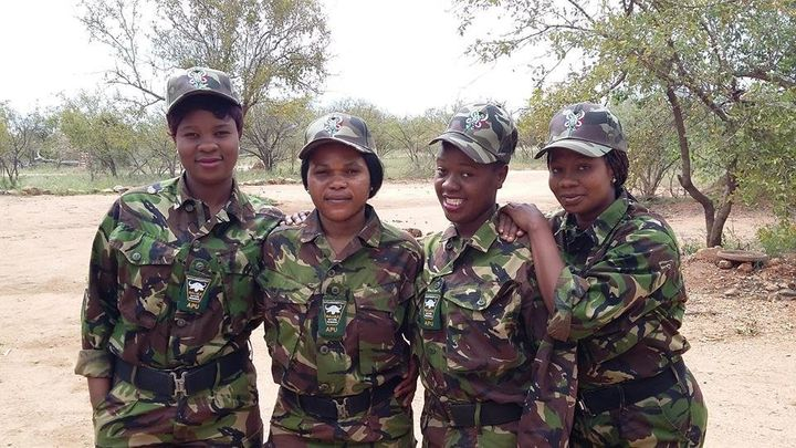 Members of the Black Mamba Anti-Poaching Unit in northeastern South Africa.