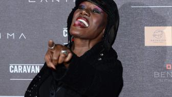 LONDON, ENGLAND - APRIL 30:  Grace Jones attends the inaugural Battersea Power Station annual party held at Battersea Power station on April 30, 2014 in London, England.  (Photo by Karwai Tang/WireImage)