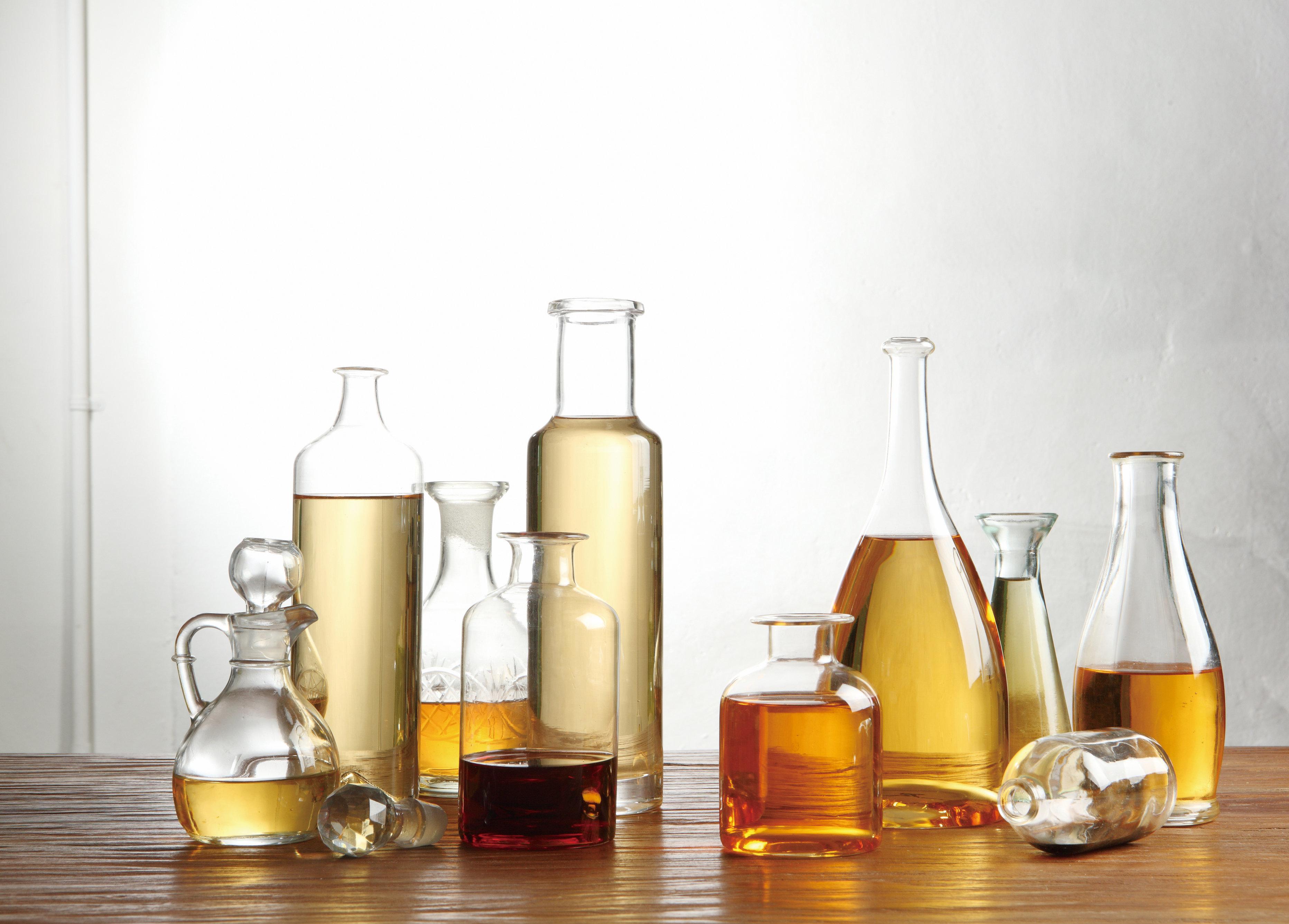 Vinegar in various bottle