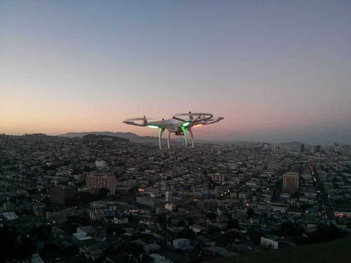 Drone over San Francisco